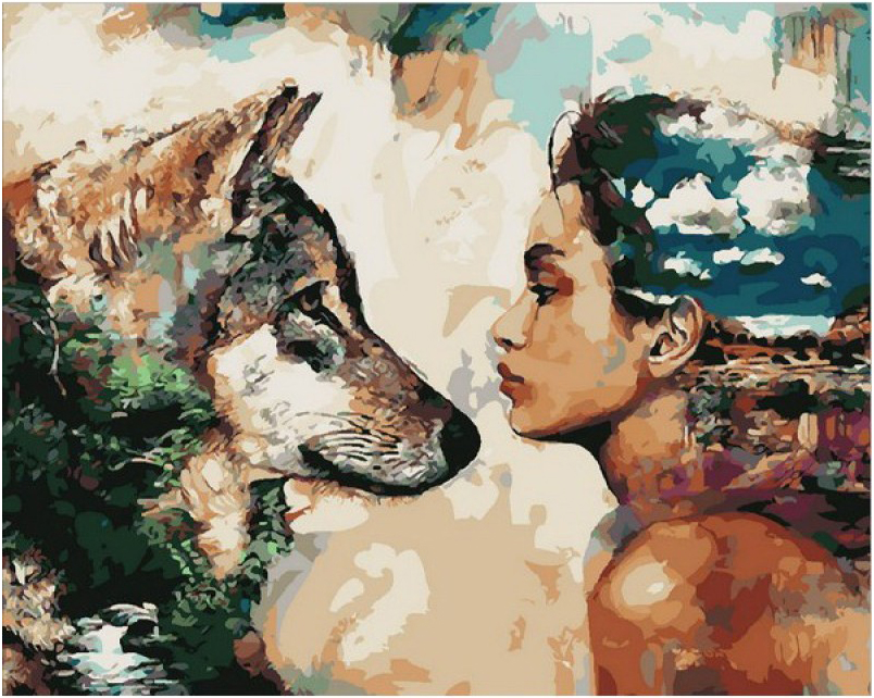 Картина по номерам Девушка и волк: цены в Екатеринбурге ...